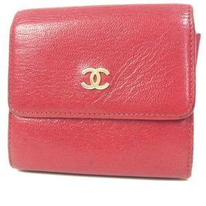 CHANEL Accessories - Authentic vintage CHANEL Red Purse wallet FIRM
